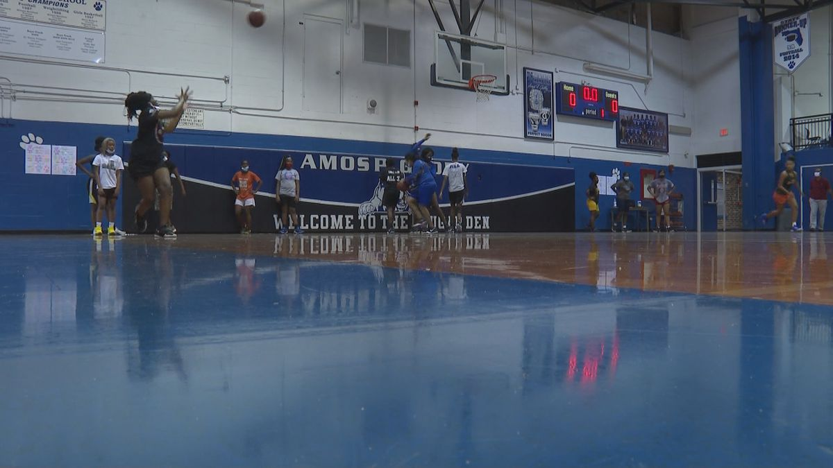 The Godby girls basketball teams practices ahead of the 2020/21 season.