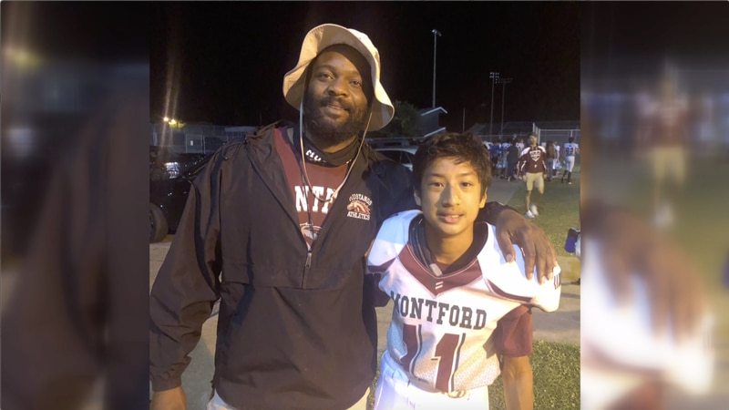 Eli Hickey, the Montford Middle School football manager, stepped on the field and all the way...