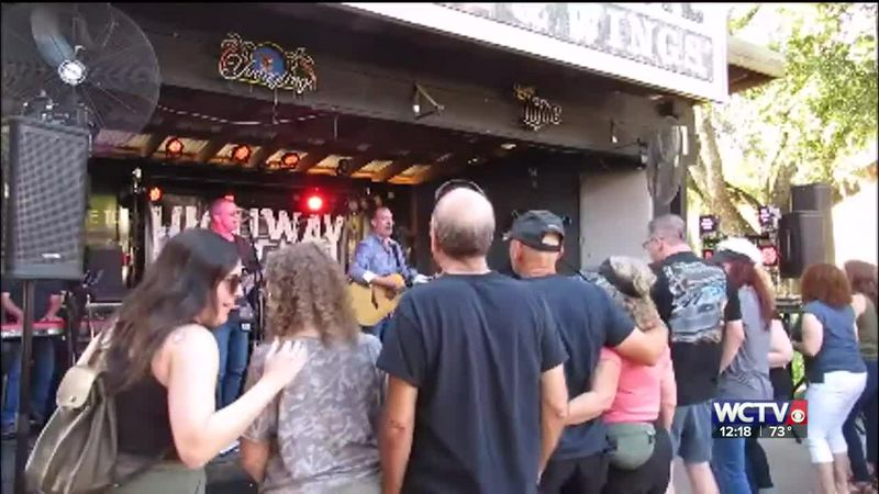 Don May, the drummer for Highway 85, spoke to WCTV's Michelle Roberts as preparations were made...
