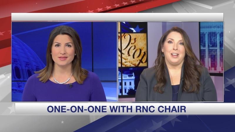 Gray Television Washington Bureau Chief Jacqueline Policastro speaks with Republican National...