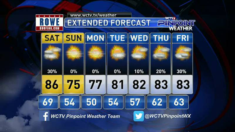 Chief Meteorologist Mike McCall gives you his forecast for October 15, 2021 and looks to the...