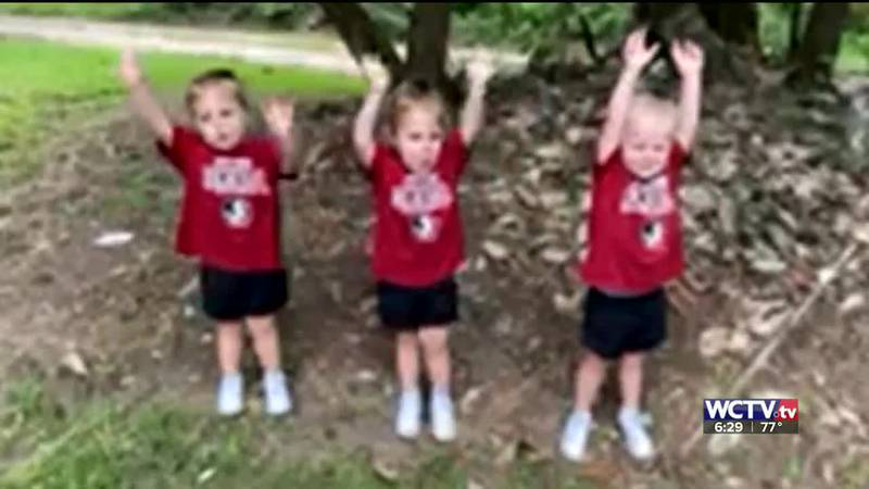 Parents Megan and Bo Walker say Kensley, Riley and Ellie were FSU fans before they were even...