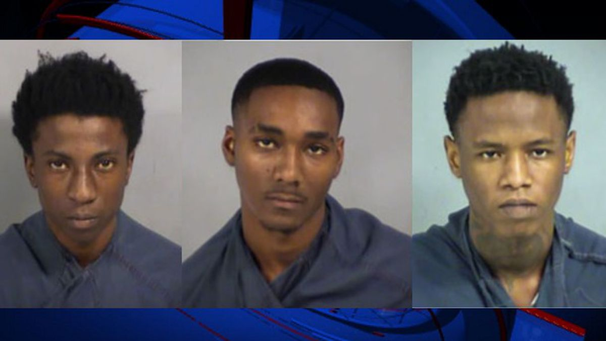 The three suspects — identified as 19-year-old Shepherd Williams (left), 18-year-old Ahmad...