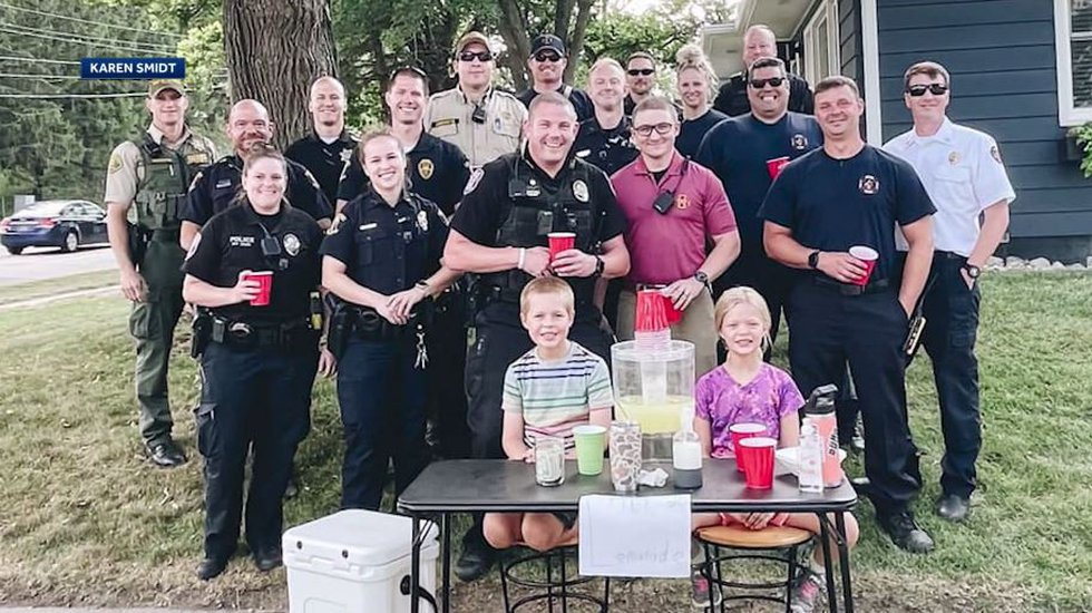 """Ames Officer Celena Rohland asked her colleagues to visit the lemonade stand to """"make a..."""