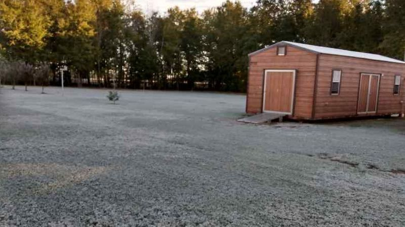 A viewer submitted this image of frost on the ground in Brinson, Ga. (southwest of Bainbridge,...