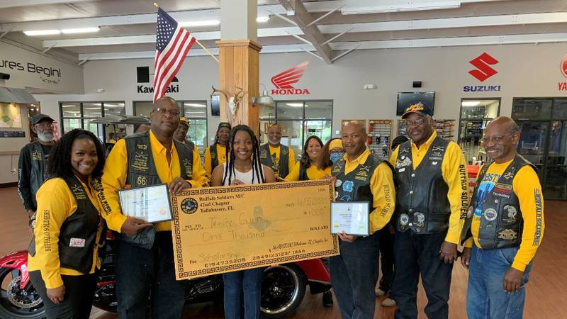 A Rickards High School student was awarded a scholarship by a Tallahassee motorcycle club.