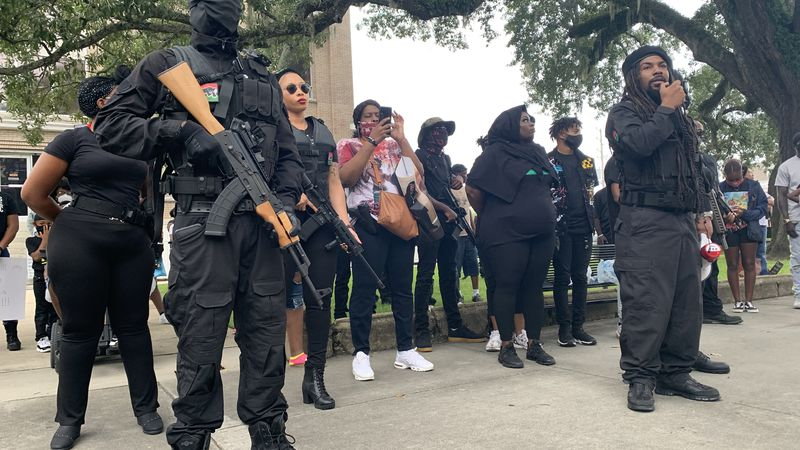 Revolutionary Black Panther Party hold armed protest in Valdosta Saturday