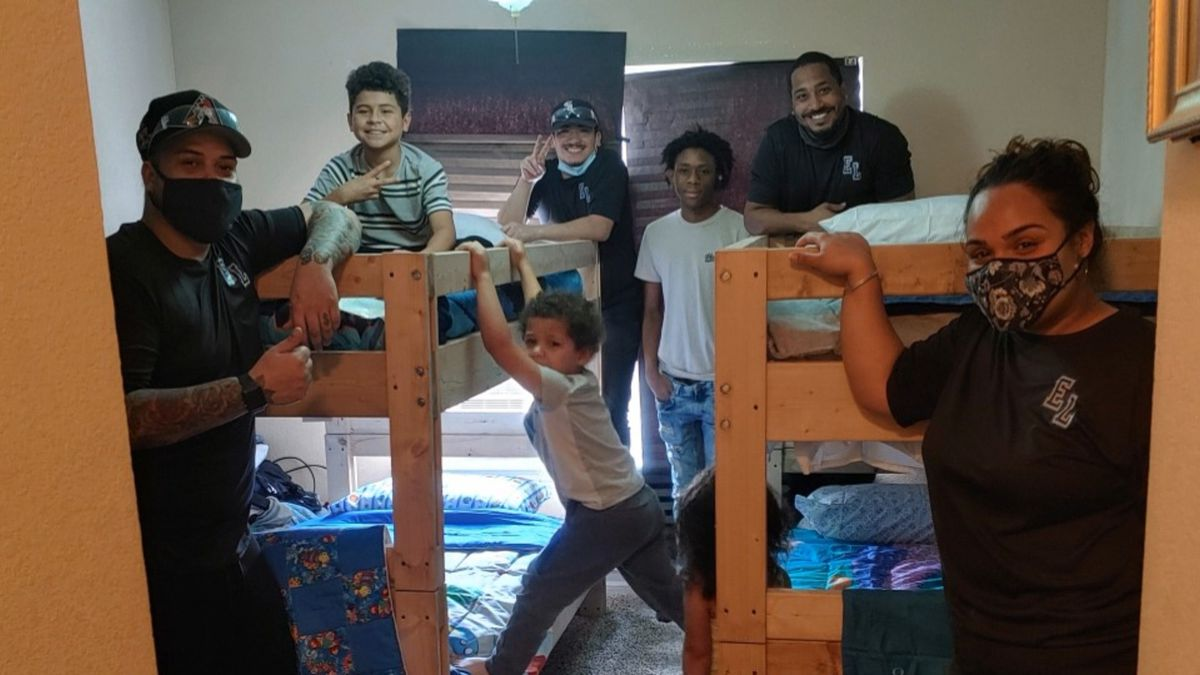 Family receives bunk bed