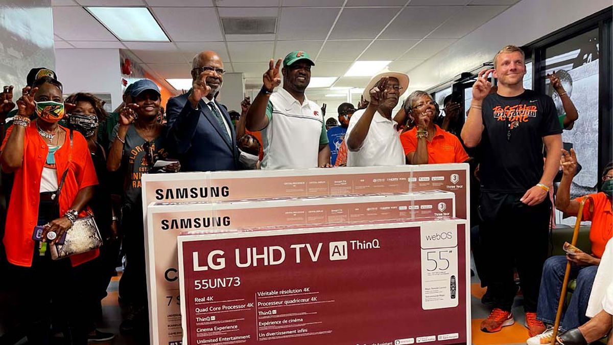 The Florida A&M University 220 Quarterback Club donated three large-screen televisions to the...