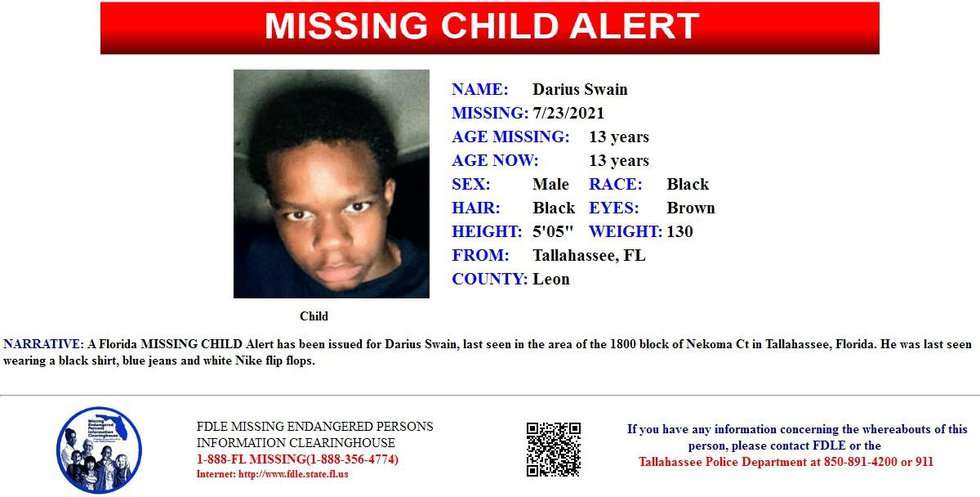 Swain 13, was last seen Friday in the area of the 1800 block of Nekoma Court. He was last seen...
