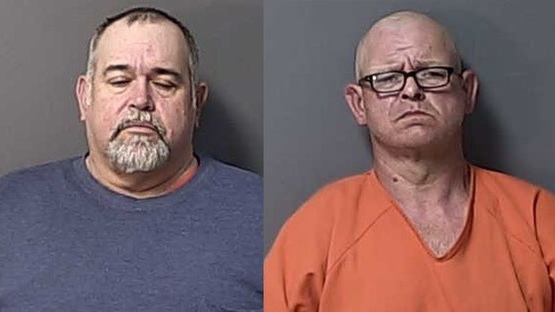 Shane Whitfield (left) and Bobby Sanders (right) were taken into custody by the Calhoun County...
