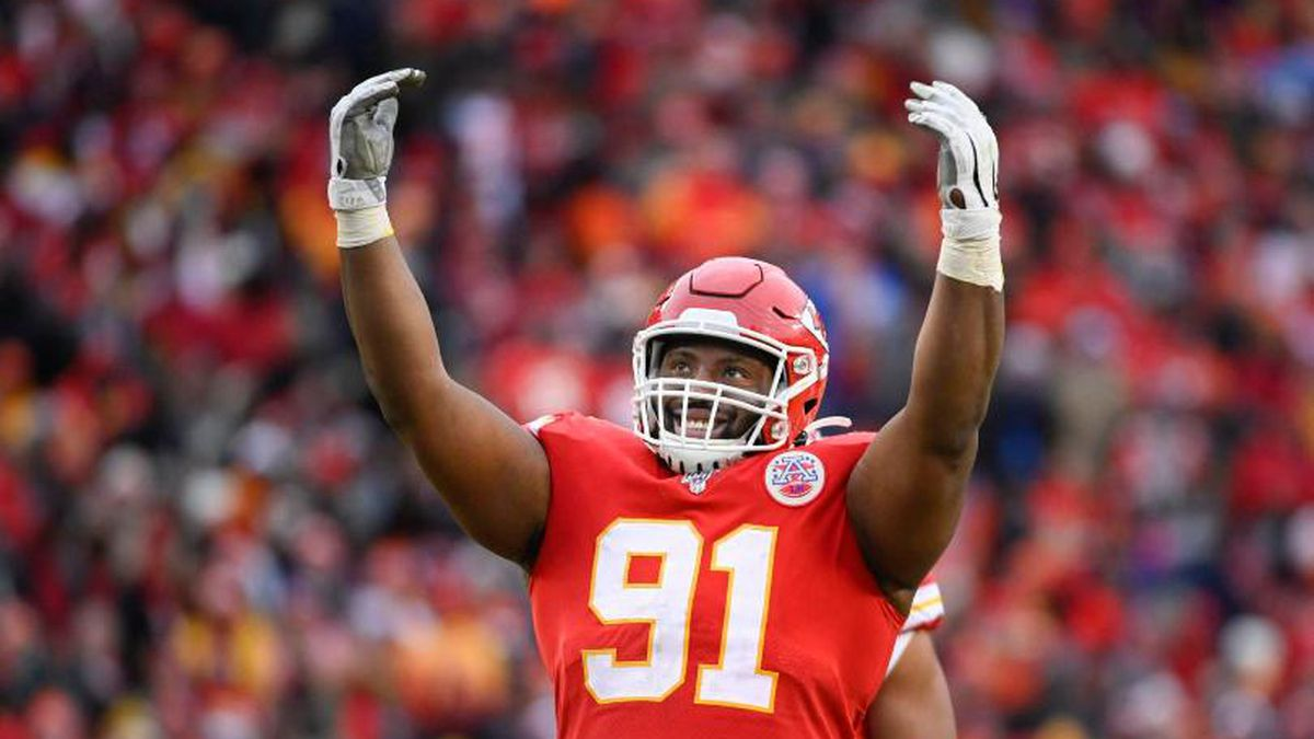 Defensive tackle Derrick Nnadi has decided to pay for all of the adoptions for dogs who became available for adoption on Sunday or before. (Photo: KCTV)