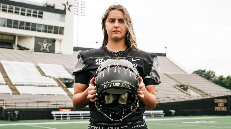 Sarah Fuller, a member of Vanderbilt's SEC championship soccer team, has joined the football...