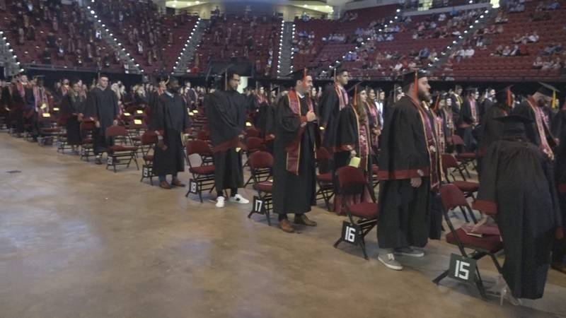 FSU holds an in-person graduation ceremony for the class of 2020.