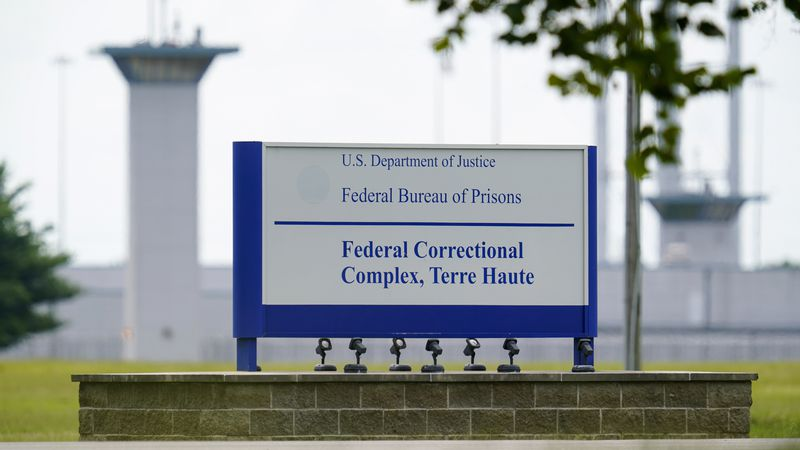 FILE - This Aug. 28, 2020 file photo shows the federal prison complex in Terre Haute, Ind.