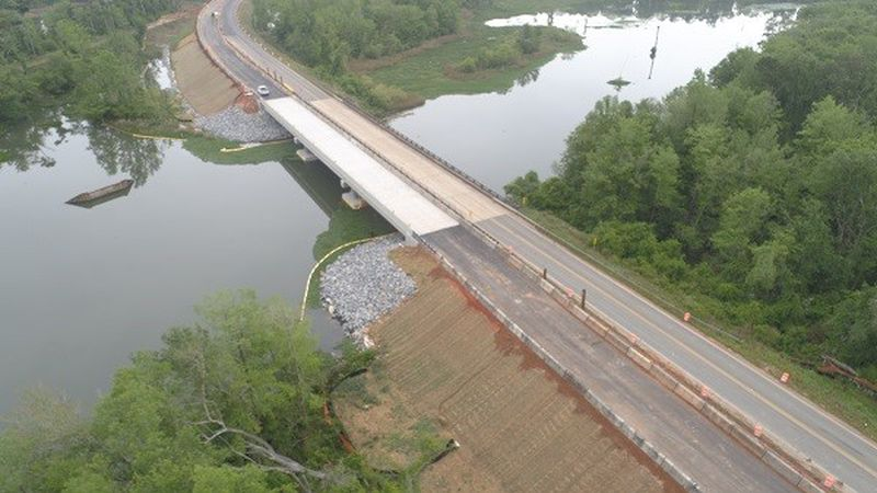 As construction continues on the State Route (SR) 253 bridge at Spring Creek, the Georgia...