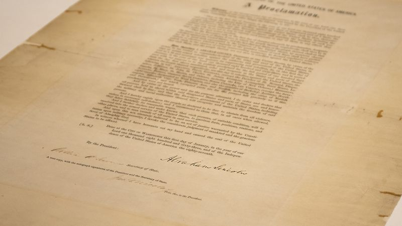 FILE - This updated handout photo provided by the Abraham Lincoln Presidential Library and...