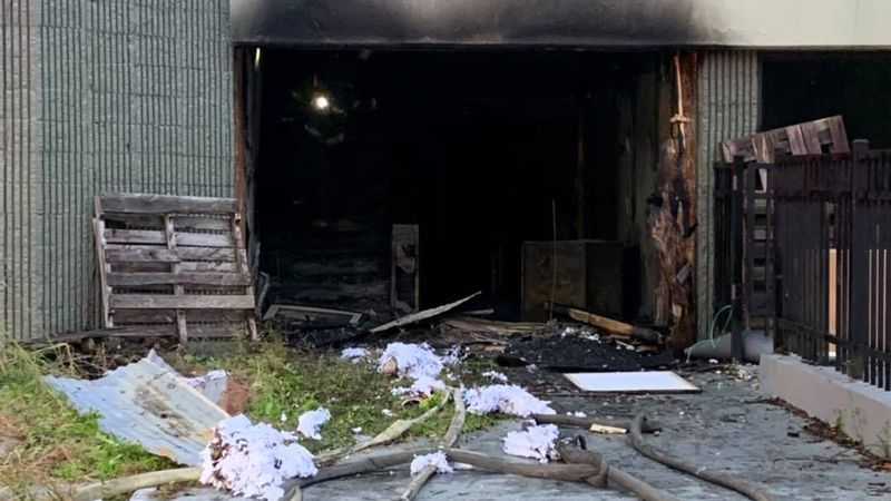 The Tallahassee Fire Department says it responded to a fire at 2020 Apalachee Parkway Monday...