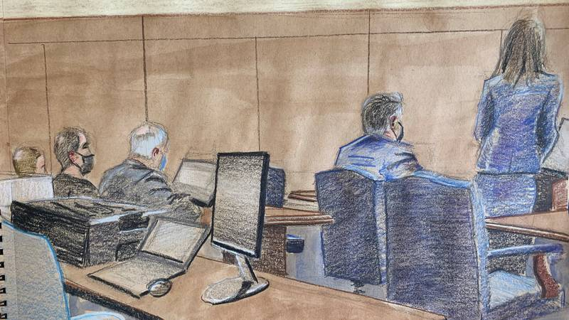 Undercover FBI agent Mike Miller finished his testimony before the first break of the day.
