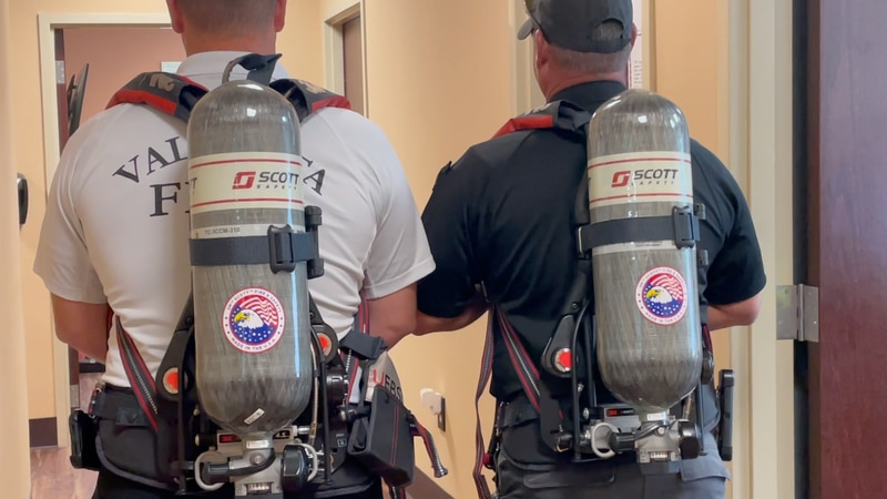 A look at the new air packs Valdosta Fire Department recently got.