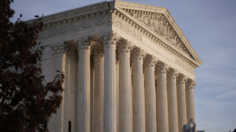 FILE - This Nov. 5, 2020 file photo shows the Supreme Court in Washington.