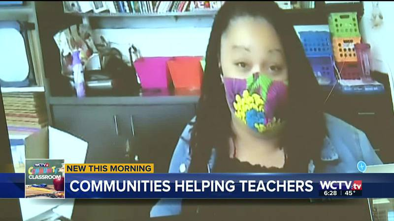 The sixth-grade science teacher says an iPad would make it easier to keep her virtual students...