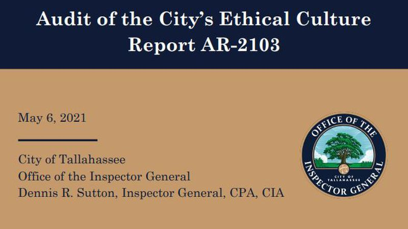 The latest audit of the City of Tallahassee's Ethical Culture has been released; it's the first...