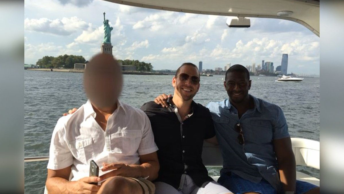 Tallahassee Andrew Mayor Gillum in New York City with developer Adam Corey and Mike Miller, who...
