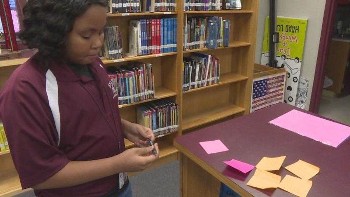 """""""I'm a positive girl, so I just wanted positivity around the school,"""" Tani'jah Battle said."""
