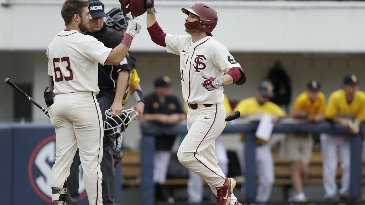 Logan Lacey hits his third homer of the weekend against Southern Miss on Sunday