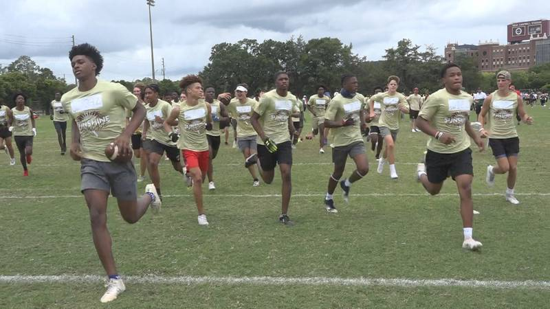 FSU's Mega Camp gives high school prospects a chance to impress college coaches.