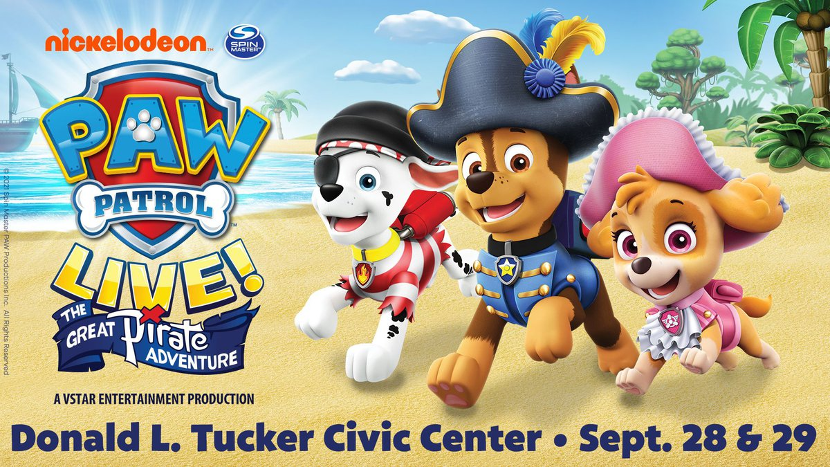 In this live show, Ryder and his fellow heroic pups try to sniff out hidden treasure during a...