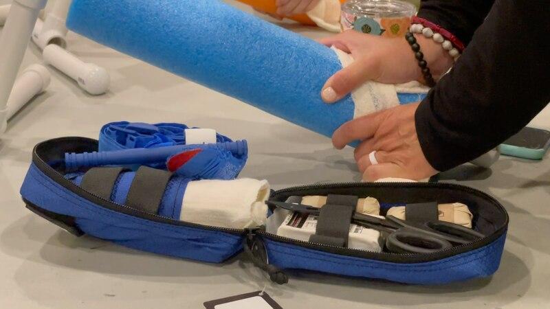 Teachers at Crossroads Baptist School were trained for emergency scenarios.