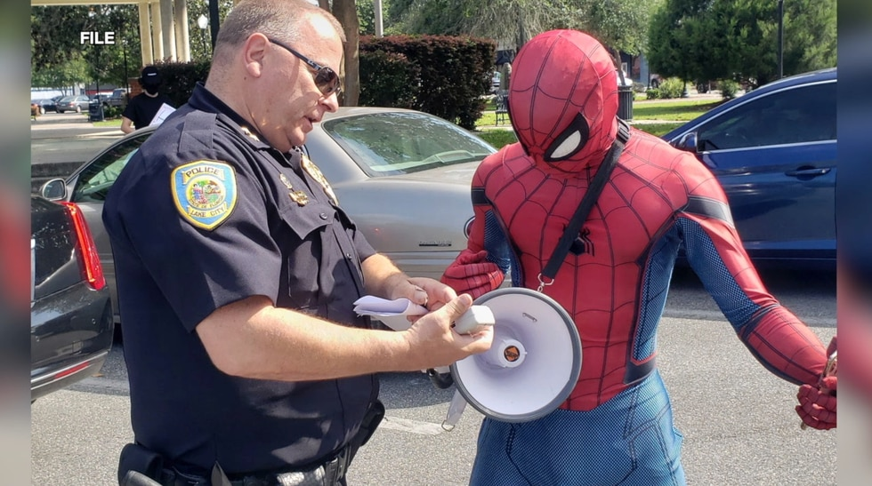 Your friendly neighborhood Spiderman won't be swinging into office in North Central Florida.