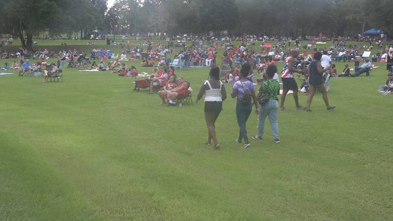 Tom Brown Park was filled with hundreds of residents to celebrate Independence Day.