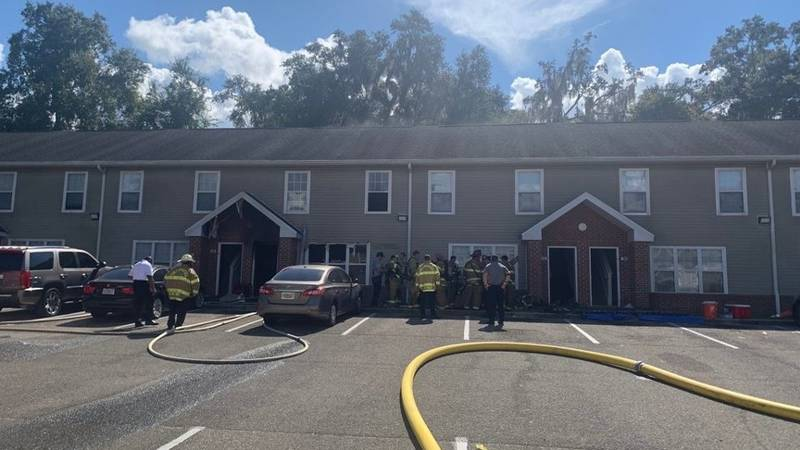 The Tallahassee Fire Department responded to a fire at the College Club Townhomes Friday...