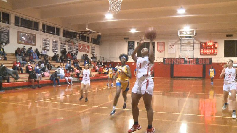 Leon hosted Rickards in girls basketball on Wednesday, January 7, 2021.