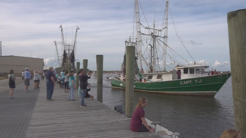The annual Blessing of the Fleet was the only part of the Florida Seafood Festival still held...