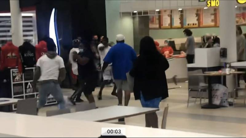 Sunday scare at the mall: New video shows a fight at Governor's Square Mall that sparked a wave...