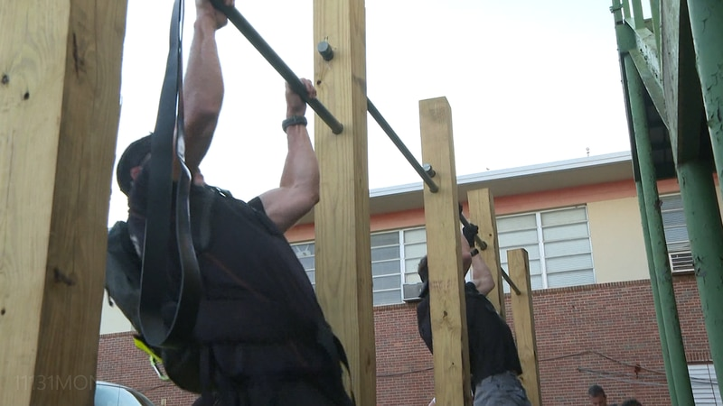 Putting their bodies to the test in honor of a fallen hero, nearly two dozen men participated...