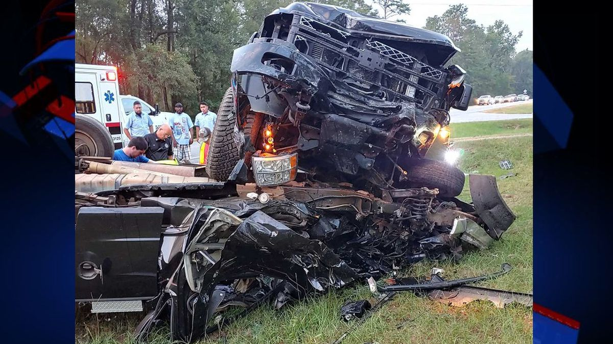The first accident happened on Faceville Highway at 7:32 a.m. Tuesday. Police found several people trying to get the driver out of a truck that flipped onto another truck.