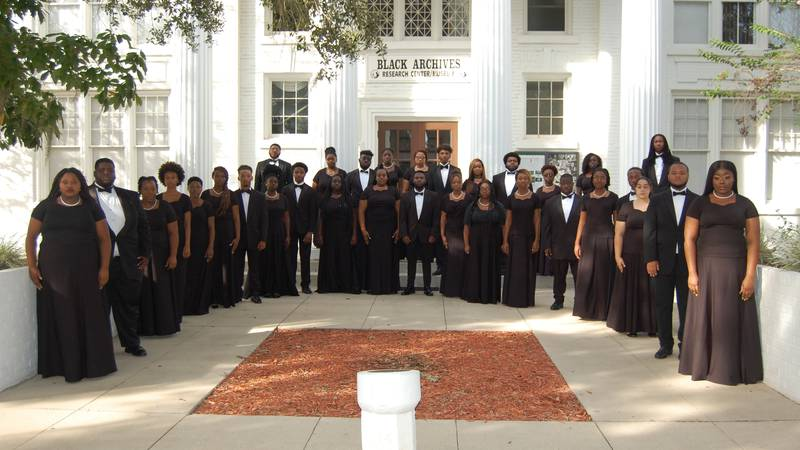 Florida A&M University's Marching 100 and Concert Choir will perform as part of the pregame...