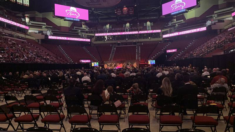 The funeral service for Bobby Bowden at the Tucker Center.