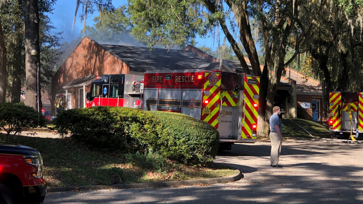 The Tallahassee Fire Department is on the scene of a fire at a dental office on Capital Medical...