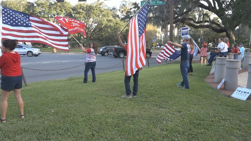 Thursday, supporters of President Trump rallied in Tallahassee, questioning how the election...