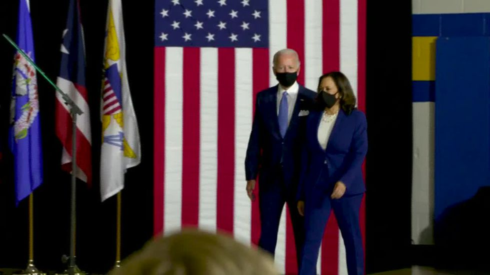 Biden, Harris make unified pitch at first appearance