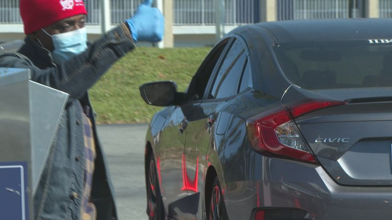 On Monday the Supervisor of Elections office transformed the drop box ballots to a drive-thru...