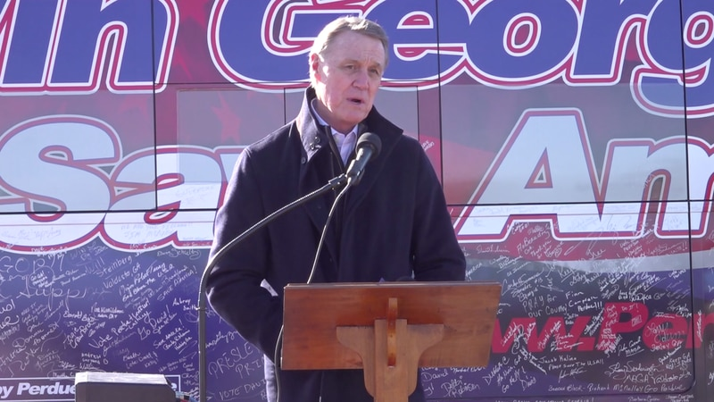 Republican Senator David Perdue and his democratic opponent, Jon Ossoff, stopped by south...