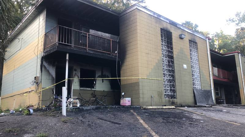 The Integrity apartments on Kissimmee Street in Tallahassee catch fire early Thursday morning