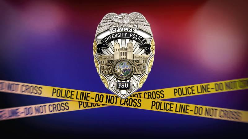 Florida State University Police Department (FSUPD) logo and crime scene tape
